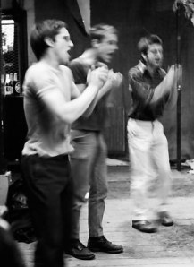 Furious Pig: voice band in action at Kensington Market in 1980, pictured by © Shapersofthe80s