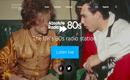 Absolute Radio, DAB, 1980s , pop music,