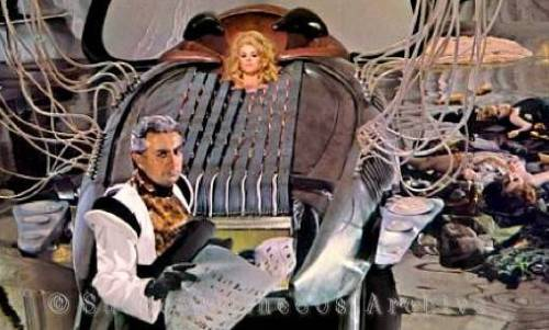 Milo O'Shea, Jane Fonda, Barbarella, FR/IT 1968, Roger Vadim