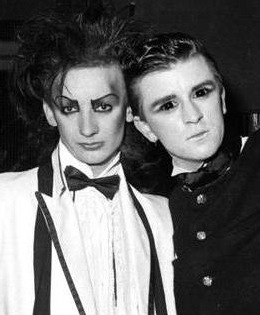 Greeters at the Blitz: George O'Dowd and Steve Strange. Picture © Andy Rosen
