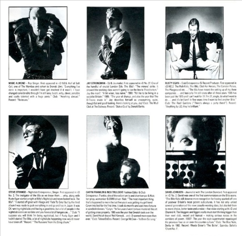 Nick Knight, 1985, Almond, Strongman, Egan, Strange, Caryn Franklin