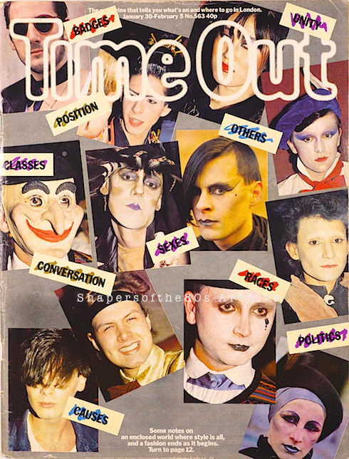 Time Out, Jan 1981, New Romantics, Blitz Kids, Stephen Linard, Steve Strange, Stewart Mechem, Tony Hadley