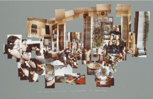 David Hockney, photo-collage, joiners, Christopher Isherwood, Bob Holman, 1983, Collection David Hockney