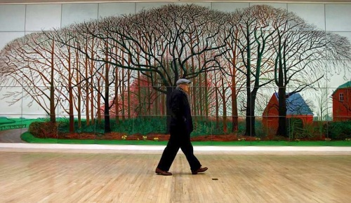 David Hockney, Royal Academy,exhibition,Bigger Picture ,London,Tate, Bigger Trees near Warter