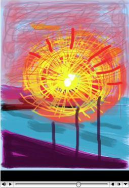 David Hockney, iPhone, Dawn over North Sea, AV, slideshow