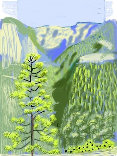 David Hockney, interview, Daily Telegraph, Martin Gayford,  iPad,iPhone