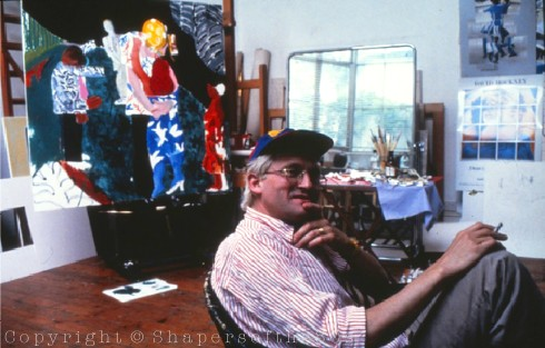 David Hockney, London, 1983, Roger Shattuck,painting, interview, cubism, Proust