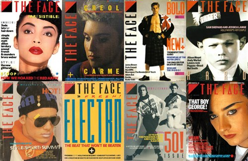 The Face, magazine, 1980s, covers by Neville Brody