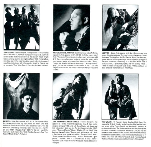 i-D,Nick Knight, People of the 80s,  John Galliano, Andy Czezowski, Jimmy Fox, Lizzy Tier, Ray Petri, Maria Cornejo,Tony Wilson