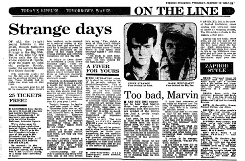 Evening Standard, On The Line, Steve Strange, Evening Standard