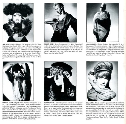 i-D,Nick Knight,People of the 80s,Jane Khan,  Michael Clark, John Crancher, Christos Tolera, Helen Robinson, Jalle Bakke