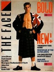 The Face, magazine, 1984, men in skirts