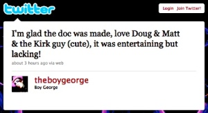 Boy George, Twitter, May 16, 2010