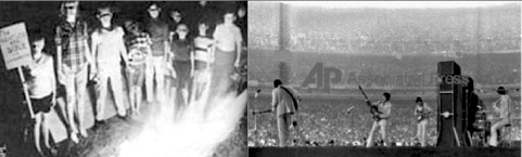 Beatles, tour, USA 1966, burnings, Shea Stadium,more popular than Jesus