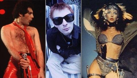 Freddie Mercury, Radiohead, Kate Bush