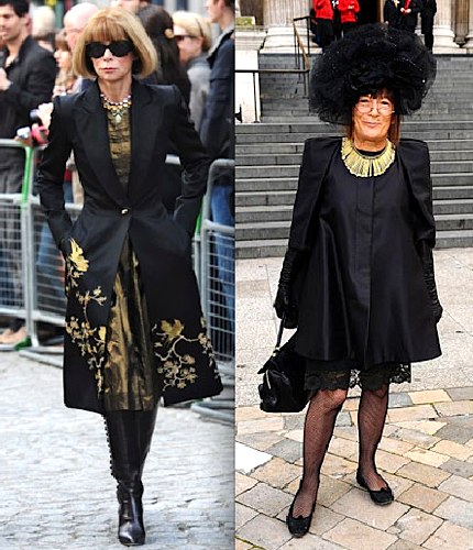 St Paul's Cathedral, McQueen, ceremony, Anna Wintour,Hilary Alexander