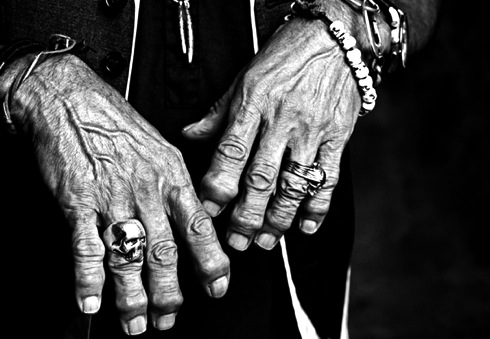 Keith Richards, David Courts , Bill Hackett, skull ring,