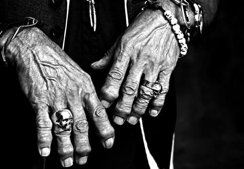Keith Richards, David Courts , Bill Hackett, skull ring,