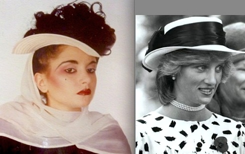 Julia Fodor, Princess Diana, Stephen Jones hats
