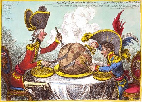 The Plumb-pudding in danger, James Gillray,  Humphrey, Library of Congress