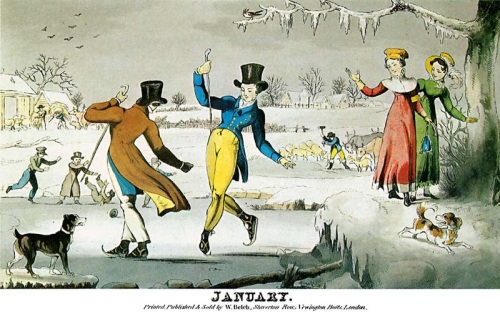 W Belch,January,engraving, ice-skating,1810,Henry Raeburn,Coleridge,Georgian England