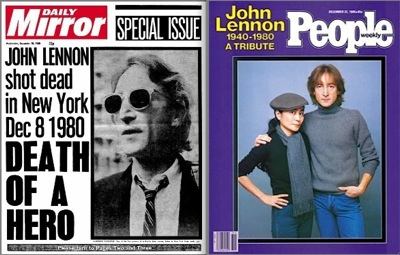 John Lennon death, Daily Mirror, people magazine, 30th anniversary