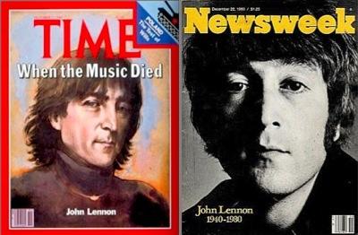 John Lennon death,Time magazine, Newsweek, 30th anniversary