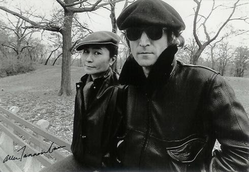 John Lennon, Yoko Ono, New York City, 1980,Allan Tannenbaum