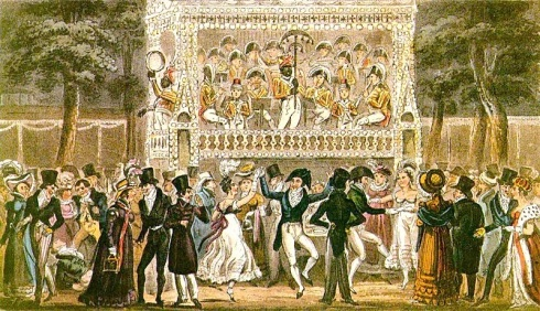 Tom Jerry and Logic, Making the Most of an Evening in Vauxhall,Vauxhall Gardens,George Cruikshank, Jonathan Tyers,Roger de Coverley ,Pierce Egan, Life in London,1821