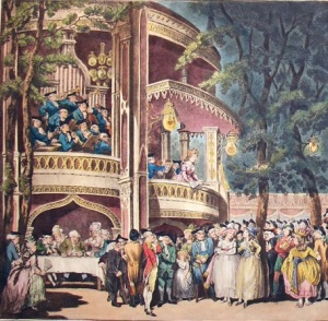Vauxhall Gardens, 1732,James Boswell, Dr Samuel Johnson,Rowlandson