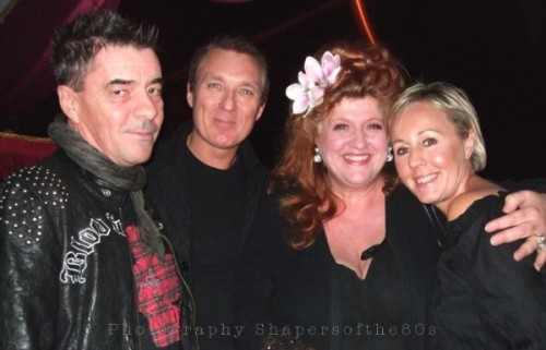 Shirlie Holliman,Eve Ferret,John Keeble, Martin Kemp, Blitz club