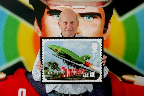 Gerry Anderson ,Supermarionation,Thunderbirds, Captain Scarlet, Royal Mail, stamps