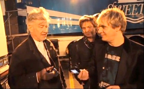 David Lynch, Duran Duran, Unstaged, Roger Taylor, Nick Rhodes (DD videograb)