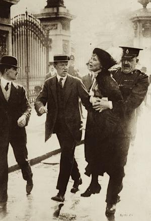 """Votes for Women, campaign,Emmeline Pankhurst , 1914, David Cameron, """"Calm down dear"""""""