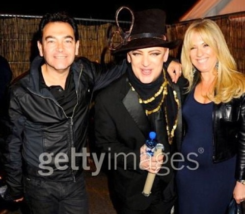 Boy George, 50th birthday,Jon Moss, Barbara Moss,