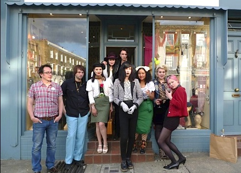 Amwell Street Knocking Shop, pop-up-shop,vintage fashion,London