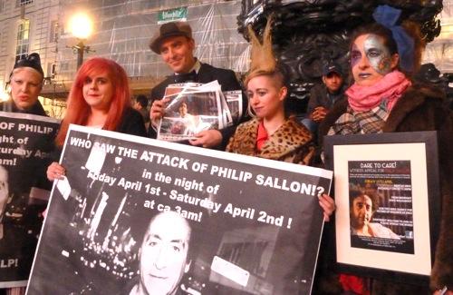 Philip Sallon, Benjamin Till, police appeal,