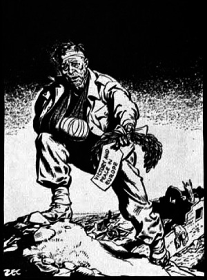 Philip Zec,political cartoon,Daily Mirror , VE Day