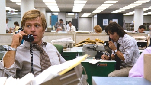Robert Redford ,Dustin Hoffman ,All the President's Men