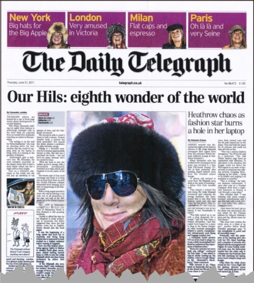 Hilary Alexander, tributes, Daily Telegraph, fashion,