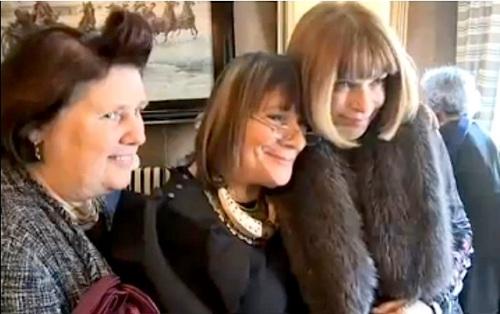 Suzy Menkes, Hilary Alexander, Anna Wintour, party