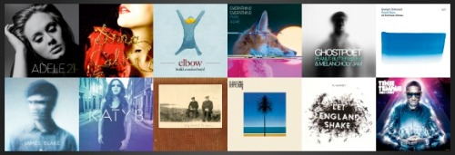 Mercury Music Prize 2011, shortlist,