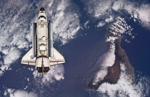 US space shuttle, Atlantis ,International Space Station