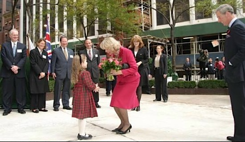 British Garden , Hanover Square,  New York, Prince Charles, Duchess of Cornwall