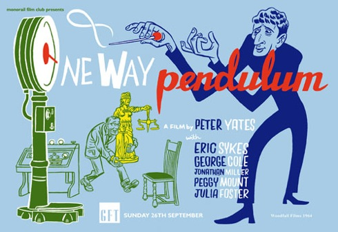 One Way Pendulum ,N F Simpson , Woodfall Films, John Cleese ,Jonathan Miller ,Dick Lester,
