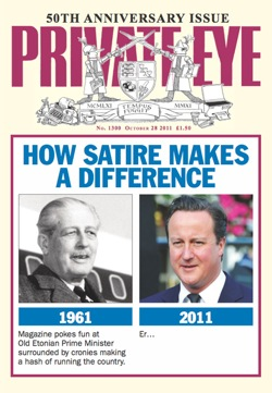 Private Eye, 50th anniversary, issue No 1300, Gnome-Mart,satire