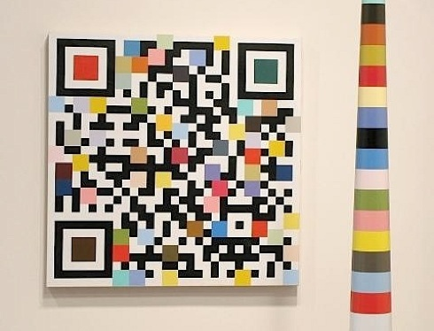 Douglas Coupland,Calgary, interview,TrépanierBaer,exhibition,paintings,QR code,