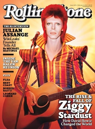 Rolling Stone magazine, David Bowie,Bowie changed the world, Rise & Fall of Ziggy Stardust, glam-rock, Major Tom,We Can Be Heroes,Angie Bowie, New Romantics, Blitz Kids, Bowie's Bequest,