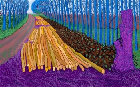 Winter Timber 2009, David Hockney, Royal Academy, Bigger Picture, reviews,art,