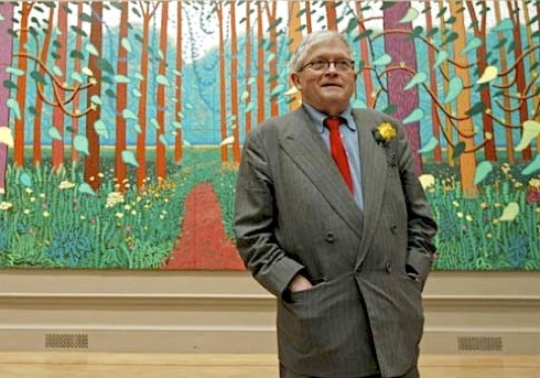 David Hockney, Bigger Picture, Yorkshire, landscapes,art, Royal Academy, exhibition, Arrival of Spring in Woldgate,reviews